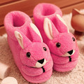2016 Winter Warm Soft Indoor Shoes Home Terlik Floor Slippers Shoes Woman Non-slip Funny Rabbits Cartoon Shoes Plush Plus Size
