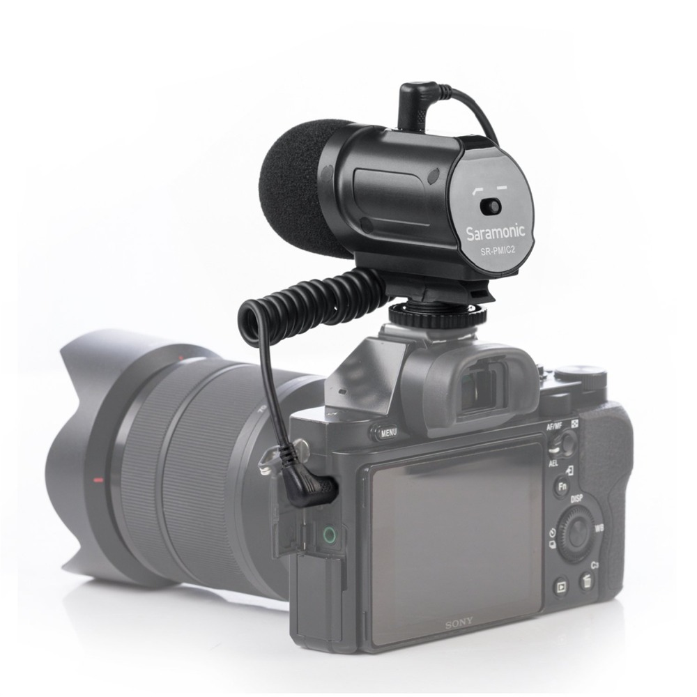 Saramonic SR PMIC2 Mini Camera Mounted Stereo Condenser Video Mic Interview Mic for NikonD3300 Canon T6i Sony A9 DSLR Camcorder-in Microphones from Consumer Electronics    1