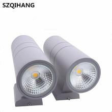 AC85-265V Waterproof Stainless Steel Up Down 10W/20W/30W/40W/Black/Gray LED Wall Light IP66 Double Wall Lamp Outdoor Wall Light 15w 20w 30w cob modern led wall lamp sconce outdoor porch light up and down lighting ac85 265v led wall light warm white