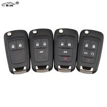 RIN Flip Folding Key Shell for Chevrolet Cruze Remote Key Case Keyless Fob 2 3 4 5 Button Uncut HU100 Blade for Chevrolet