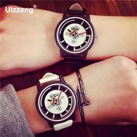 100 New IBELI Fashion Skull One Piece EXO PU Leather Quartz Watch Wristwatch Gift For Men