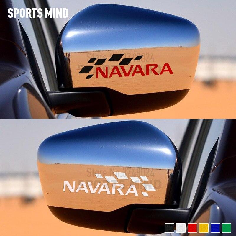 1 paire pour Nissan Navara NP300 D40 Nismo JDM accessoires extérieurs voiture style rétroviseur Automobiles autocollant voiture