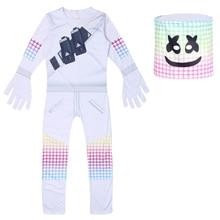 New Marshmello Costume Dj For Kids  Cosplay Children Boys Girls Party Halloween Carnival Performance