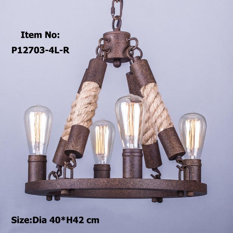 Retro antique rope chandeliers large american style chandelier lamp for  dining living room bar Restoration. Popular Antique Restoration Hardware Buy Cheap Antique Restoration