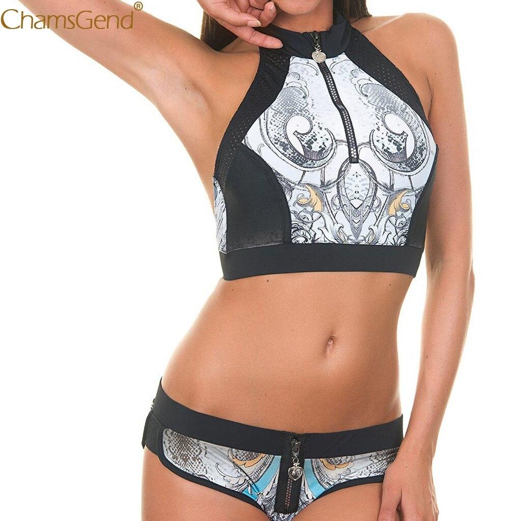 Black brief sets Wire Free( High Waist Print bra brief sets Women's Print Zipper Sexy Two-Piece lingerie set Bra underwear Jun22