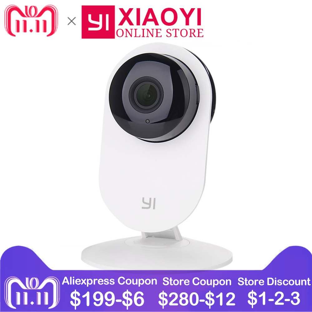 [International Edition] Xiaomi YI Home Camera 720P HD Xiaoyi IP Camera 110 Wide Angle Two-way Audio Activity Alert Smart Webcam kerui 1080p cloud storage wifi ip camera surveillance camera 2 way audio activity alert smart webcam