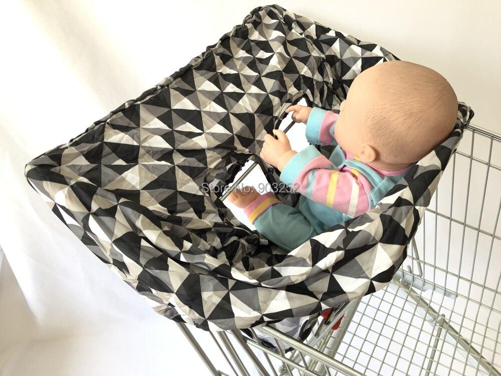 Переносная корзина для покупок, чехлы для стульев и продуктовых корзин для младенцев, детей, младенцев и малышей ✮ включает сумку для переноски - Цвет: triangles