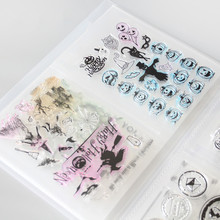 Clear Stamps& Die Cuttings Storage Box Pocket Album Holds 80pcs Clear Stamps 17.8x12.7cm 2 per page Clear stamps organization