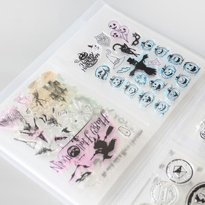 Image 1 - Clear Stamps& Die Cuttings Storage Box Pocket Album Holds 80pcs Clear Stamps 17.8x12.7cm 2 per page Clear stamps organization