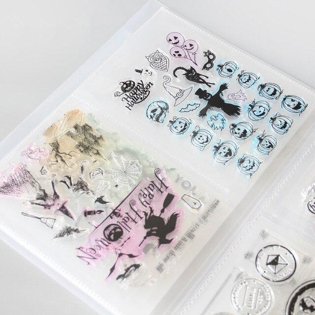 Wyczyść znaczki i Die sadzonki pudełko do przechowywania kieszonkowy Album posiada 80 sztuk wyczyść znaczki 17.8x12.7 cm 2 na stronie wyczyść znaczki organizacji