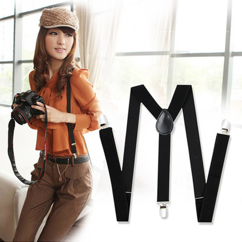 1PC Women Clip-on Suspenders Elastic Y-Shape Adjustable Braces Female Shirt Suspenders Women Pants Braces Clothing Accessories