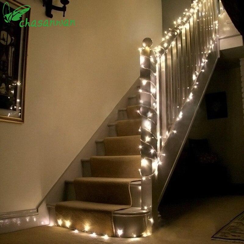 Romantische 10 mt 100 Pcs LED Streifen Licht Neue Jahr Dekoration Weihnachten Dekoration Adornos De Navidad Para Casa Adornos De navidad, L