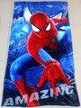 Frete grátis 1 pcs Spiderman toalha de algodão toalhas de banho crianças toalha de praia crianças toalha de banho DF06