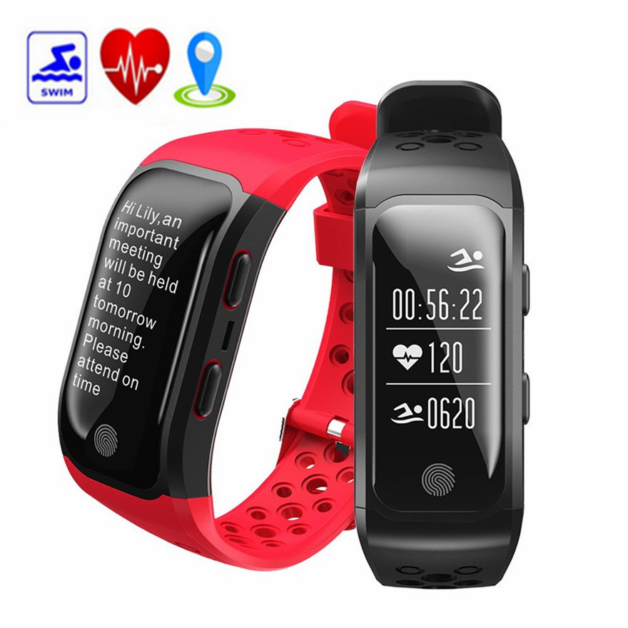 IP68 Waterproof Sport Bracelet GPS Tracker Swimming Smart Watch Bluetooth Heart Rate Monitor Sleep Fitness Tracker Wristband edwo df23 smartband heart rate monitor waterproof swimming smart wristband health bracelet fitness sleep tracker for ios android