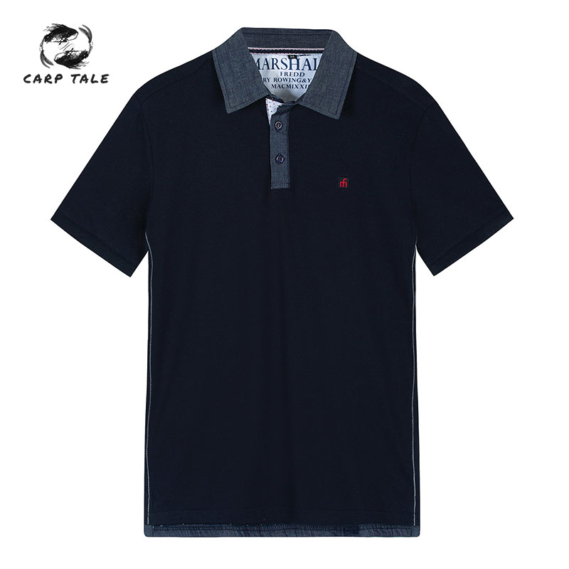 2019 new brand men's   Polo   shirt men's cotton short-sleeved shirt men's men's classic   Polo   shirt casual size M L XL XXL