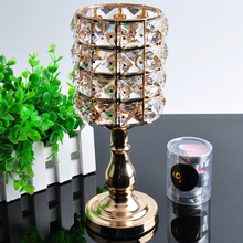 AOCAI crystal candlestick holder,crystal and metal,home decoration,candle holders METAL CRAFT wedding gifts Table Decoration