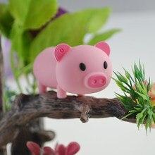 Мультяшная милая розовая свинка Usb флеш-накопитель Флешка 4 ГБ/8 ГБ/16 ГБ/32 ГБ/64 Гб u-диск карта памяти животного реальная емкость