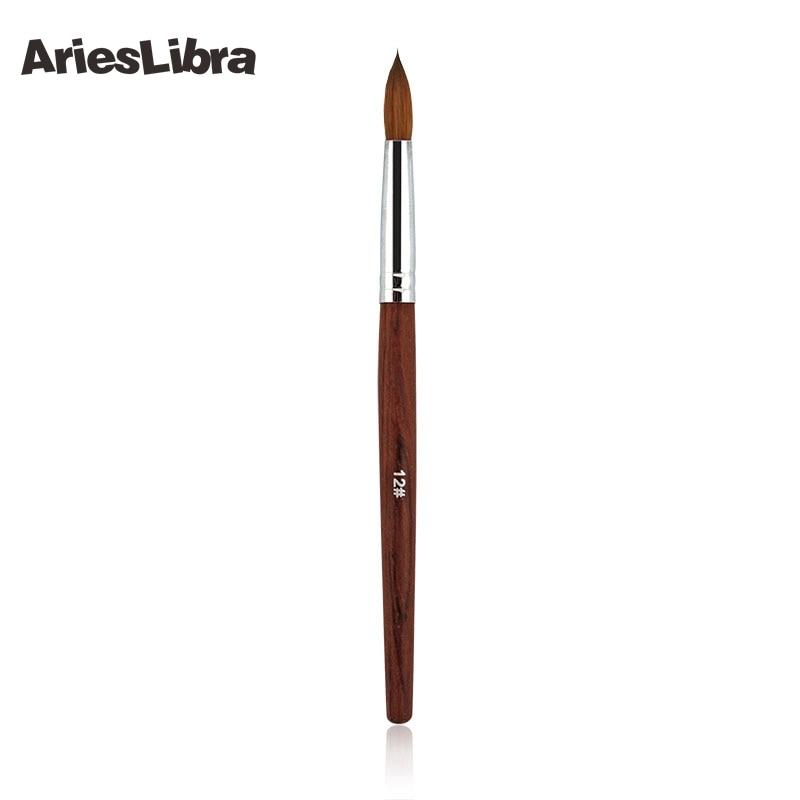 5 pièces/ensemble Design 100% Kolinsky Sable acrylique Nail Art constructeur brosse spirale Gel stylo conseils trousse à outils professionnel ongles outils 12 #