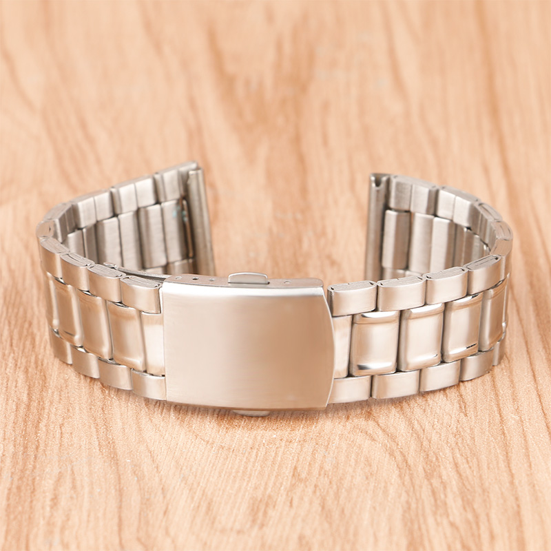High Quality 18mm 20mm Stainless Steel Bracelet Wristband Strap Fold Over Clasp Push Button Solid Link + 2 Spring Bars kitqua37798saf7751gr value kit quality park clasp envelope qua37798 and safco e z sort steel mail sorter module saf7751gr