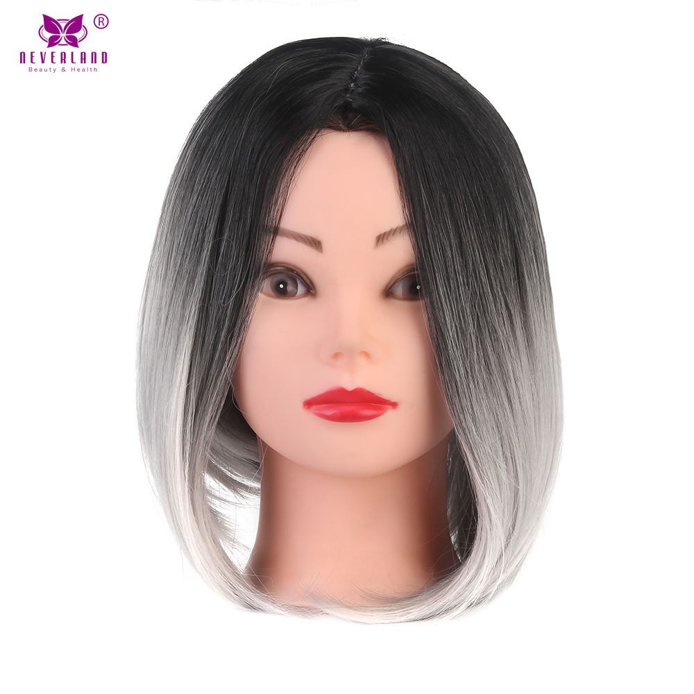 Neverland Synthetic Short Straight Bob Wig Ombre Colored