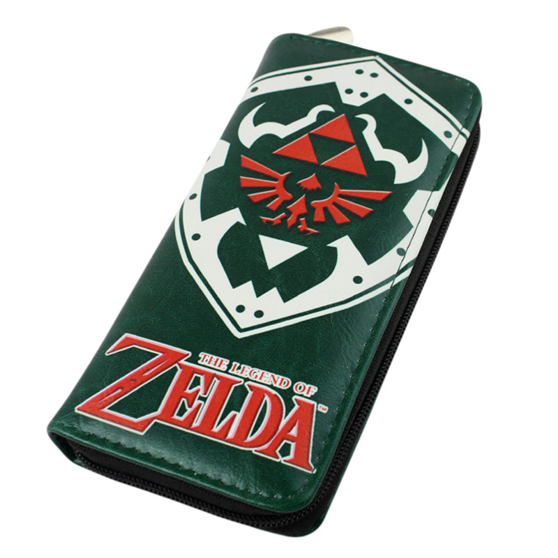 Long Style The Legend of Zelda PU Wallet Classical Zelda Mark Purse With Zipper the legend of jig dragonslayer