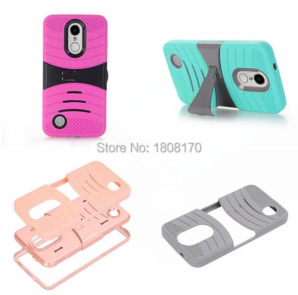 US $132 53 5% OFF Kickstand 3 in 1 Hybrid TPU PC Hard Case For LG Fortune  Phoenix 3 Phoenix3 Rebel 2 Camo Soft Armor Shockproof Wave Cover 50pcs-in