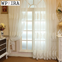 Luxury Living Room Curtain Tulle Curtain Modern Window Treatments Curtains Bedroom Embroidered Ready Made Curtains Wp367