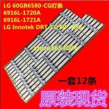 4 pcs/ensemble bande rétro éclairage LED pour LG TV 60GB6580 LC600DUF innotek DRT 3.0 60 pouce Un B 6916L 1720A 6916L 1721A
