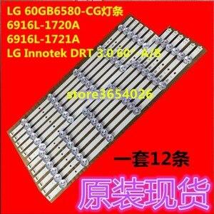 Image 1 - 4 pcs/ensemble bande rétro éclairage LED pour LG TV 60GB6580 LC600DUF innotek DRT 3.0 60 pouce Un B 6916L 1720A 6916L 1721A