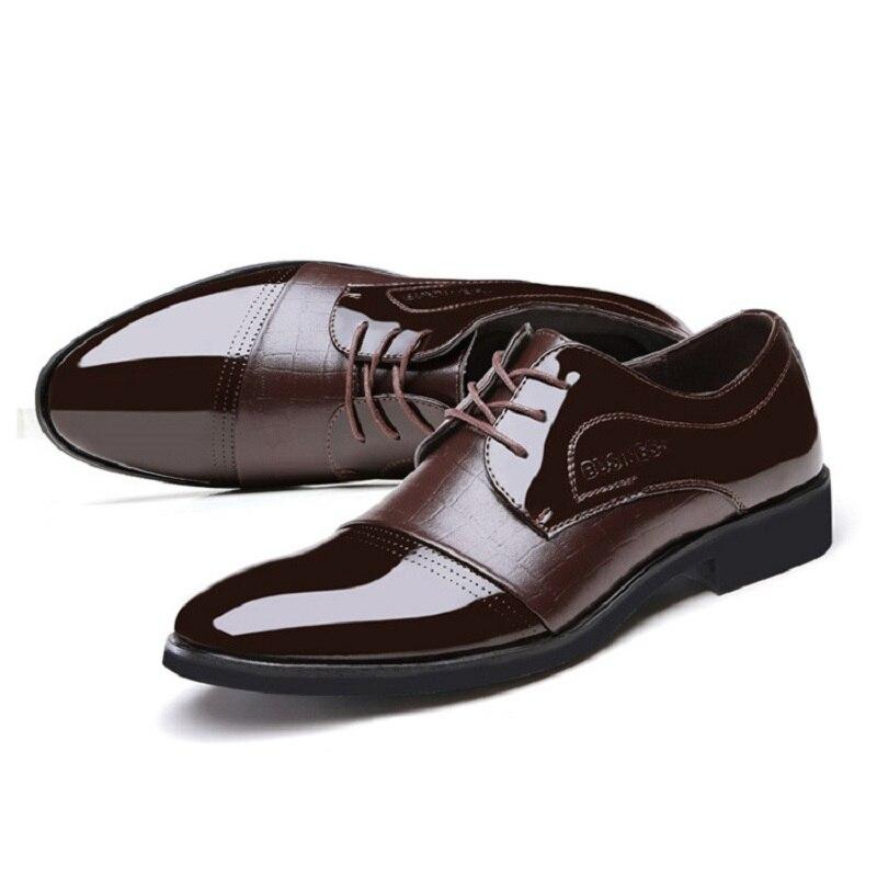 Derby clásica Imitación de Cuero de Los Hombres Zapatos Casuales Zapatos de Nego