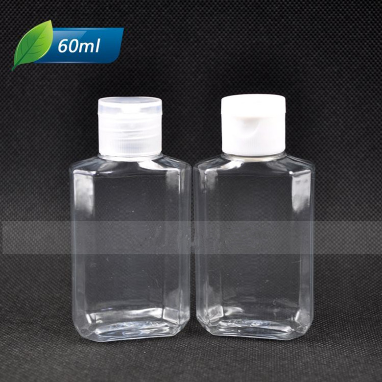 50pcs 60ml Empty Shampoo Plastic Travel Bottles With Flip Top Cap,refillable Travel Shampoo Packaging PET Bottles