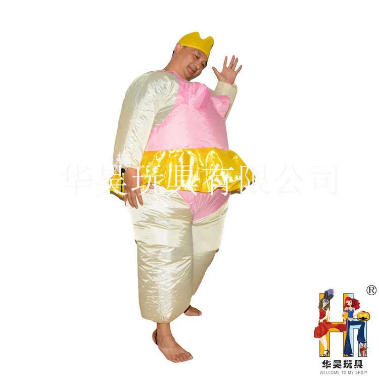 Inflatable Ballet Costume Halloween Party Funny Fat Man Fancy Full Set Dress Costume Animal Costume Full Set Cosplay
