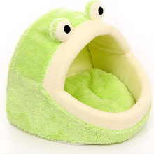 Personality Pet Dog Bed Lovely Plush Frog Puppy Cat House Autumn Winter Dog Cushion Bed Pet Products S L Size