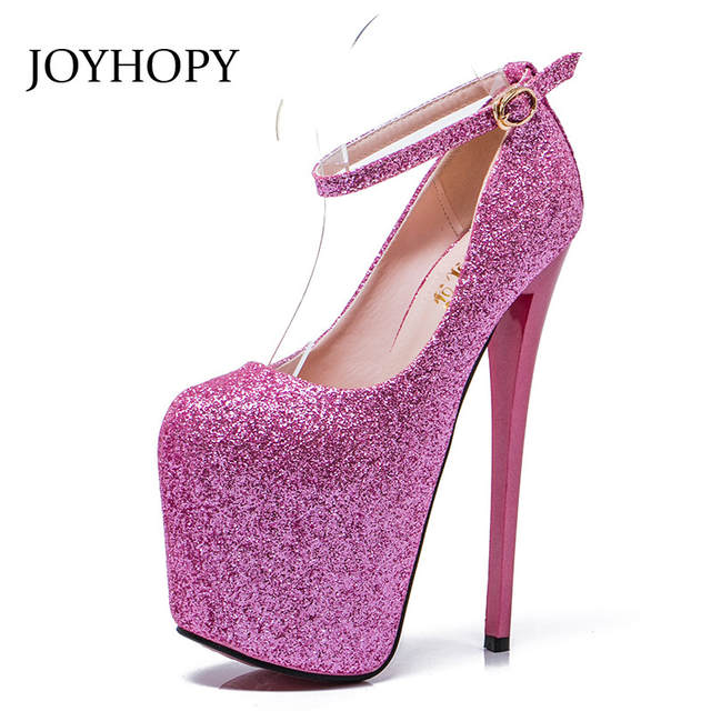 Online Shop Big Size 35- 43 High Heels Women Sexy Super High Heel 20cm  Platform Nightclub Pumps Spring Summer Custom Plus Size Party Shoes  c9b14ca12dcb