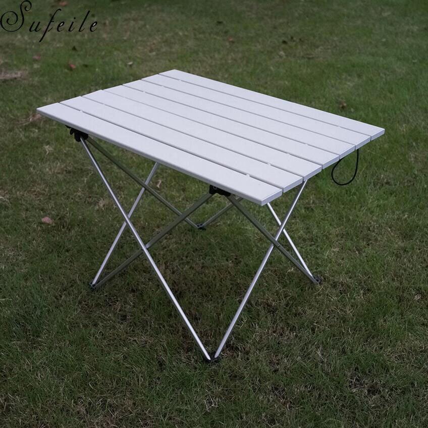 SUFEILE Portable Outdoor Aluminum Folding Table BBQ Table Camping Table Picnic Folding Table D50
