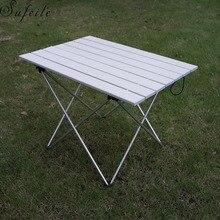 SUFEILE ポータブル屋外アルミ折りたたみテーブルバーベキューテーブルキャンプテーブルピクニック折りたたみテーブル D50