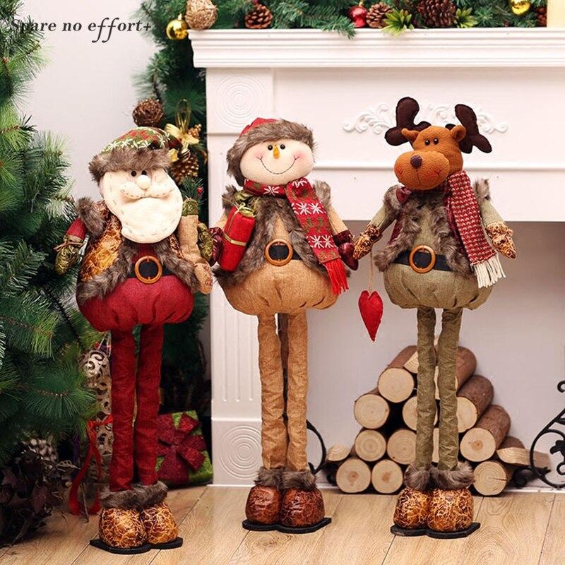 Decoracion Navidad Arvore De Natal adornos De Navidad lindo Santa Claus muñeco De nieve Reindeer Navidad decoraciones puerta decoraciones De pared