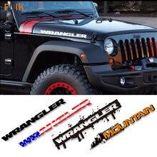 2 pçs esporte motor capô fender lado carta caráter adesivos decalque do vinil para jeep wrangler ilimitado tj jk cj tj yk jl xj