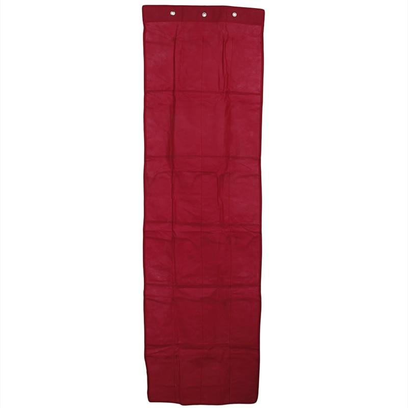 Купить с кэшбэком Practical Shoes Storage Clear Over Door Hanging Shoe Rack Hanger Organizer 24 Pockets Non-Woven PVC