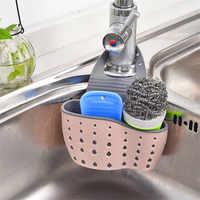 2018 Kitchen Portable Hanging Drain Bag Drain shelf Basket Bath Storage Gadget Tools Sink Holder Kitchen Basket Storage Tool Y10