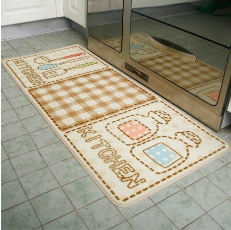 Letter Print Cute Kitchen Floor Mat Bath Rug Washable Rugs Colorful ...