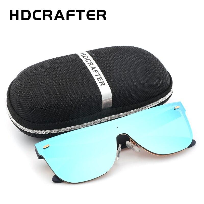 2017 HDCRAFTER Nouveau Style lunettes de Soleil Hommes Marque Designers Voyage Conduite Miroir Lunettes de Soleil Pour la Mode Homme oculos de sol