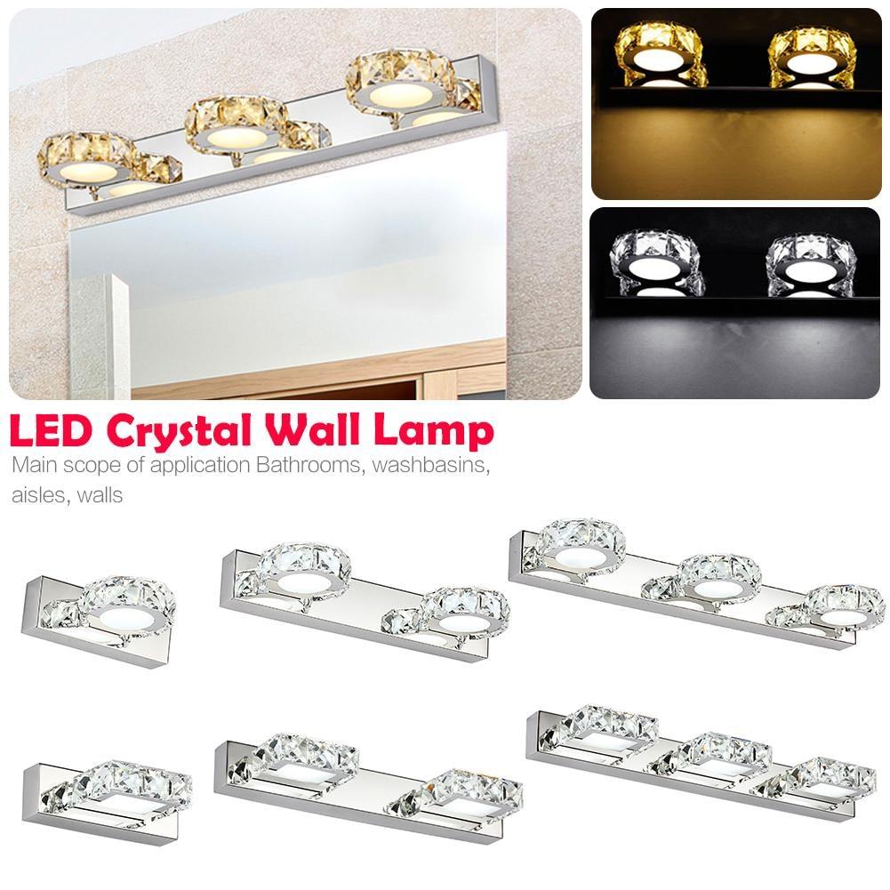 Crystal Torch Bedroom Wall Lamp Bathroom Mirror Front Wall: Modern LED Crystal Mirror Front Lamp Bathroom Mirror Light