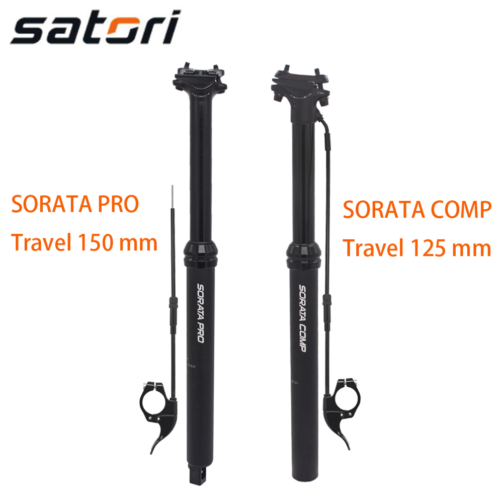 Satori SORATA COMP PRO dropper seatpost adjustable height remote 150mm 125 mm internal external cable routing