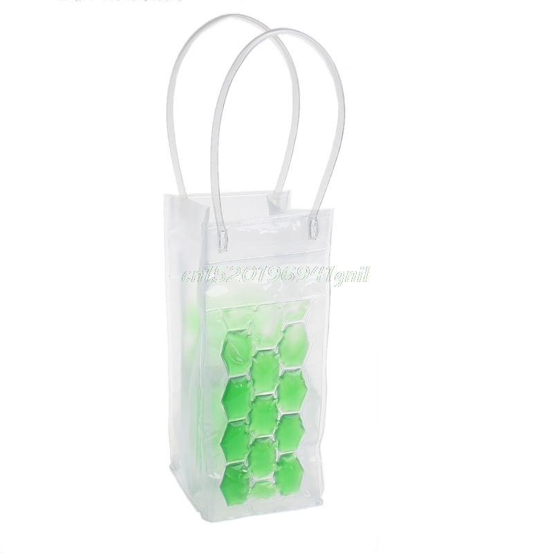 PVC Wine Bottle / Ice Bag Rapid Cooler Cool Can Cooling Gel Holder Gift Party#T025#