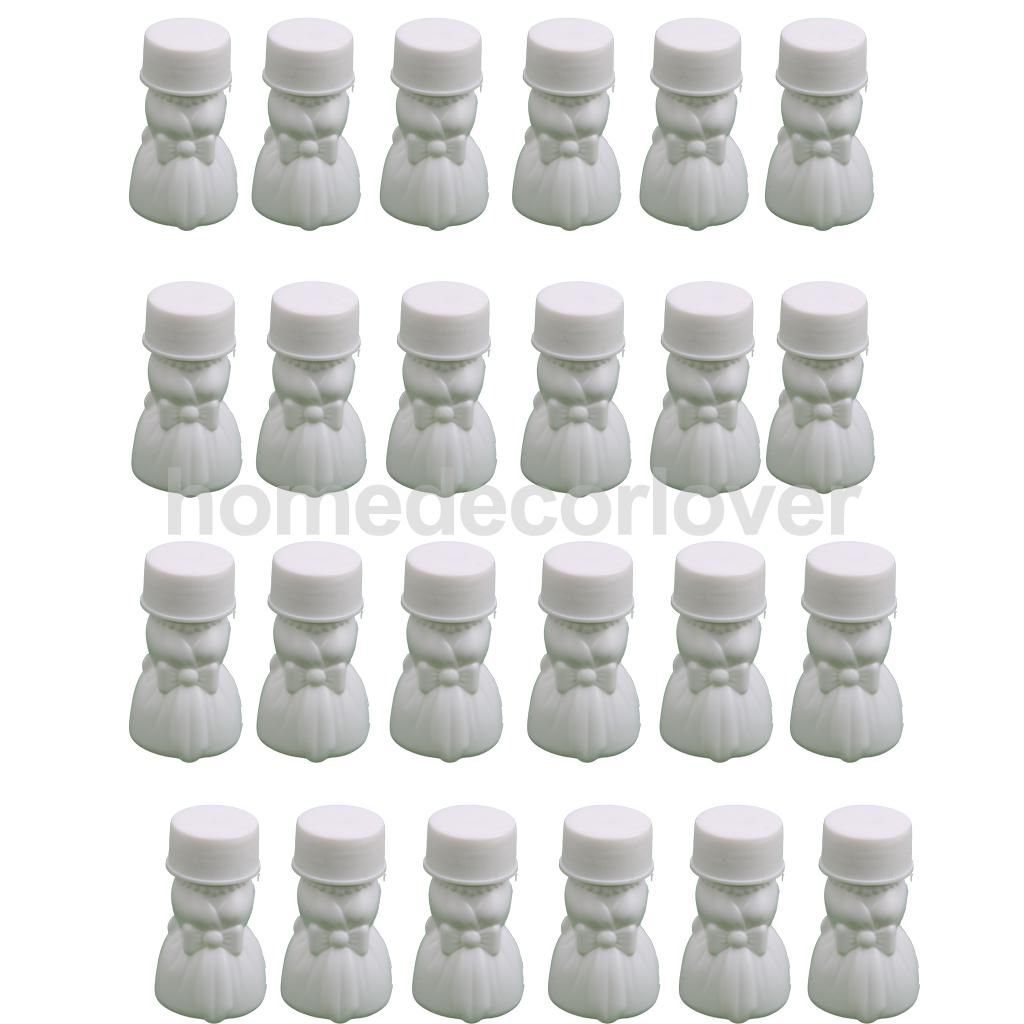 24 Bride/Bridegroom Bubbles Blowing Bottles Wedding Favors Table ...
