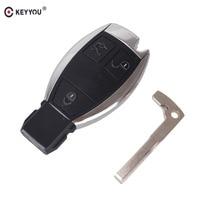 KEYYOU Remoto 3 Botones Inteligente Clave Remoto Inteligente 315 MHz Para El BENZ 2000 + Coche Keyless Fobik NEC BGA Sytle