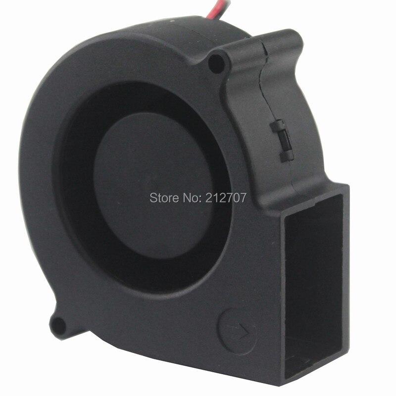 10 pièces Gdstime 7530 Turbo ventilateur centrifuge ventilateur 24 V 75mm x 30mm 2 broches échappement refroidissement refroidisseur