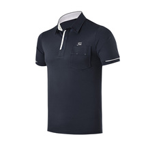2017 Newest Men's Polo Shirts Short Sleeve Sports Clothes Breathable Quick Dry Mens Golf Shirts With Pocket