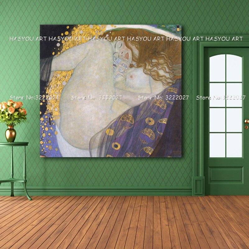 Klimt abstrait Cuardros decoracion mur Art toile peinture mur photos pour salon couleur décoration pas de cadre peinture à l'huile